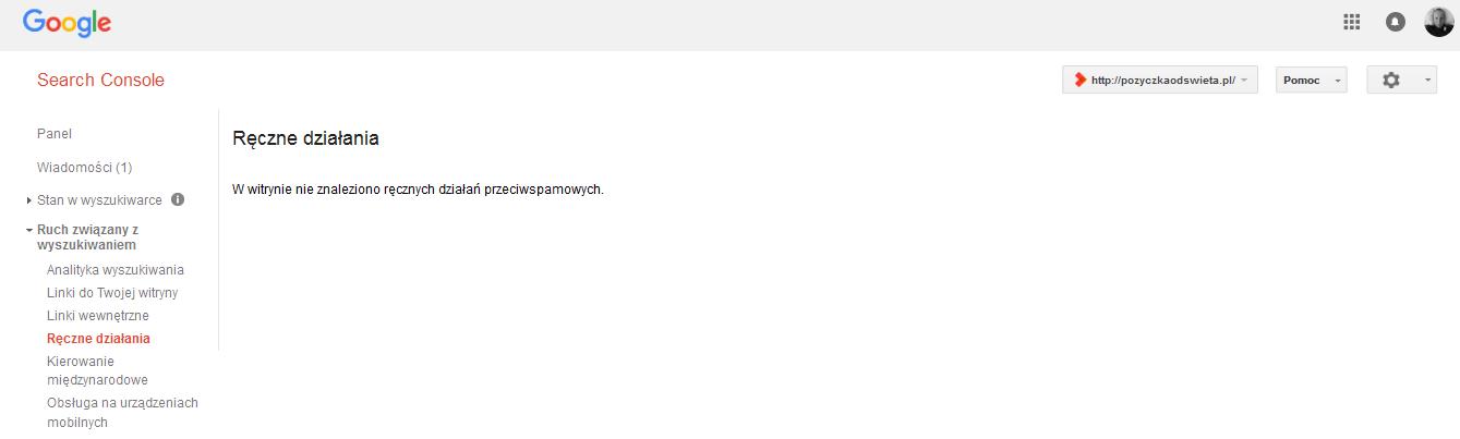 Search Console – Ręczne działania http pozyczkaodswieta.pl