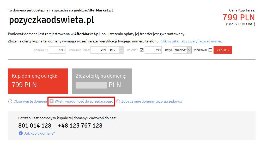 pozyczkaodswieta.pl oferta sprzedaży domeny
