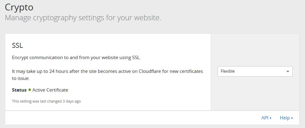 Aktywny certyfikat flexible ssl od cloudflare